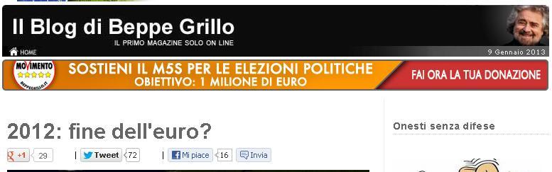 grillo fine euro nel 2012